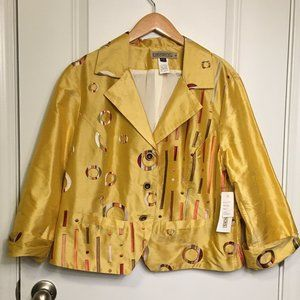 Canvasbacks Silk Embroidered Jacket Sz 18